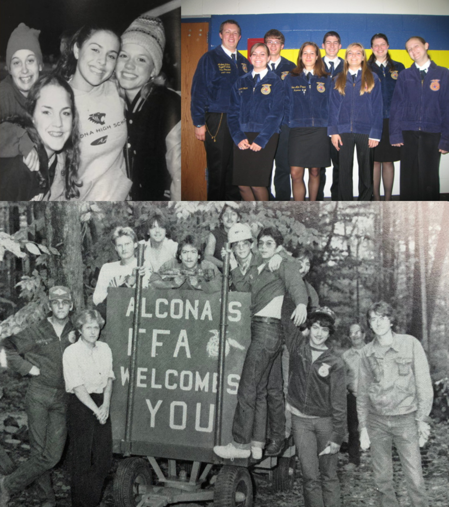 For today's #ThrowbackThursday we're doing something a little different. We want to see a picture of you in your Alcona swag! Share a picture of you in your varsity jacket, FFA jacket, sports uniform, or more and use the hashtags #TBT #AlconaAlumni