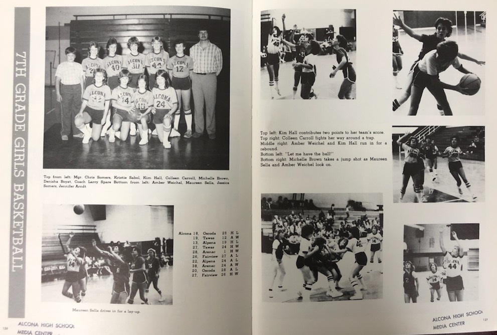 For today's #ThrowbackThursday we are highlighting the 1984-85 yearbook! Shout out to the Fall Homecoming and 7th Grade Girls Basketball. #TBT #TigerPride #GoTigers