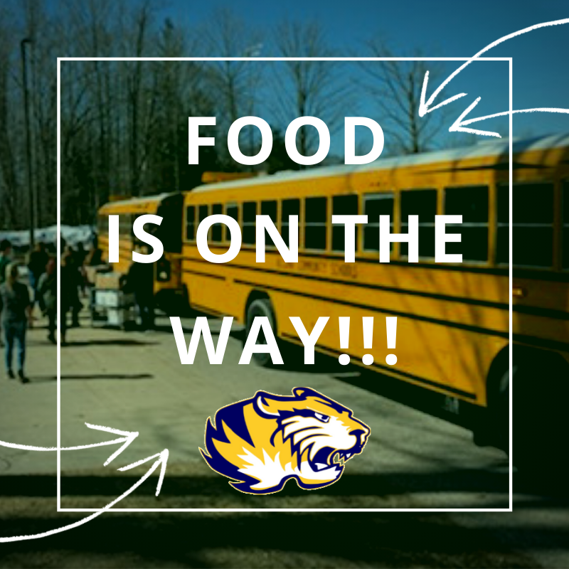 Our buses have departed and are on the way to deliver meals to all students that live on a bus route. Please make sure to be at your morning bus stop location today between 4pm-6pm (10 hours after your regular morning pick-up time). Questions? Call 989-736-6212.