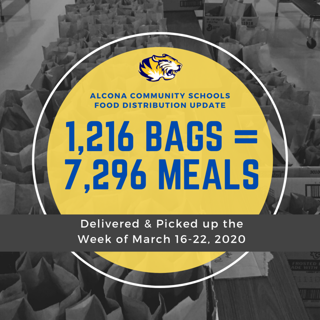 We are excited to announce our total meal distribution for this week is 7,290 meals! Thank you again to all the staff, volunteers, and community members that have made this possible! Next week's meal distributions are Monday and Thursday from 4pm-6pm.