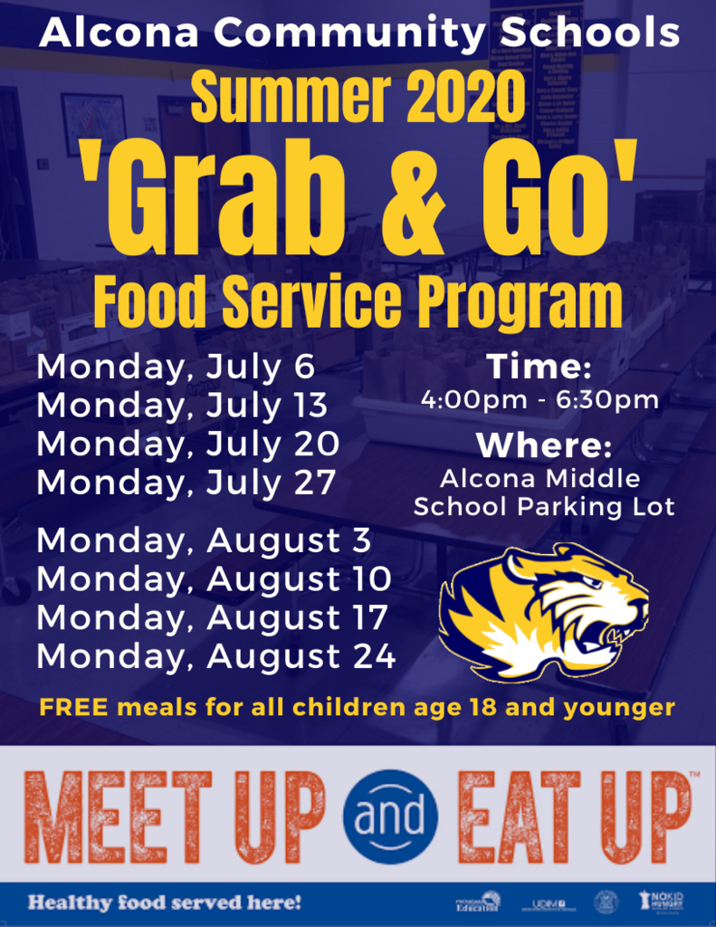 Summer Grab & Go Schedule
